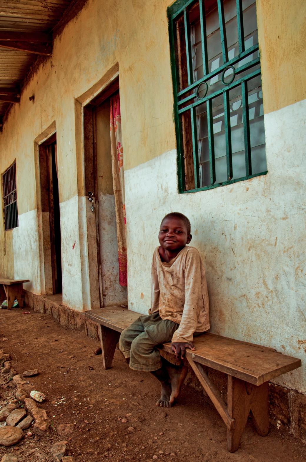 Ghana bench boy